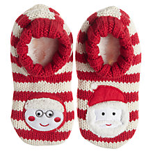 Buy John Lewis Mr & Ms Claus Bootie Socks, Red Online at johnlewis.com
