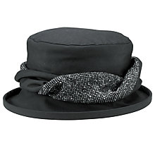 Buy Olney Emma Wax Hat With Twist Detail, Black Online at johnlewis.com