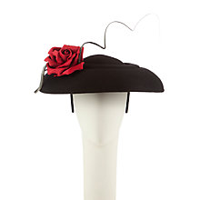 Buy Whiteley Disc Fascinator, Black Online at johnlewis.com