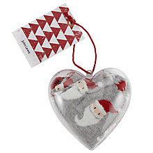 Buy John Lewis Heart Santa Bauble Ankle Socks, One Size, Grey Online at johnlewis.com