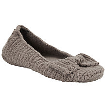 Buy John Lewis Knitted Slipper Socks, Toast Online at johnlewis.com