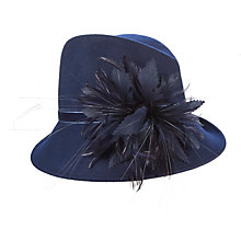 Buy Snoxells Felt Side Up Trilby, Navy Online at johnlewis.com