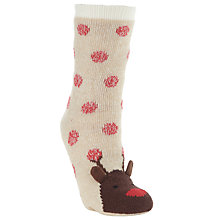 Buy John Lewis Rudolph Socks, Natural Online at johnlewis.com