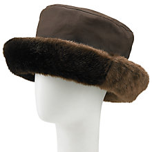Buy Olney Beth Wax Faux Fur Rain Hat, Brown Online at johnlewis.com