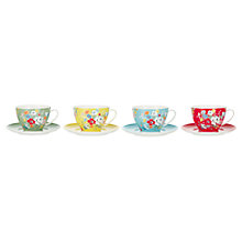 Buy Cath Kidston Clifton Rose Teacups and Saucers, Set of 4 Online at johnlewis.com