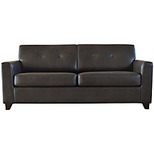 Buy John Lewis Zack Leather-look Sofa Bed, Brown Online at johnlewis.com