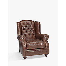 Buy John Lewis Claverdon Semi-Aniline Leather Armchair, Galveston Hide Online at johnlewis.com