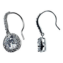 Buy Adele Marie Round Cubic Zirconia Drop Earrings, Silver Online at johnlewis.com