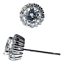 Buy Adele Marie Cubic Zirconia Stud Earrings, Silver Online at johnlewis.com