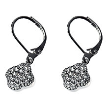 Buy Adele Marie Clover Cubic Zirconia Drop Earrings, Silver Online at johnlewis.com