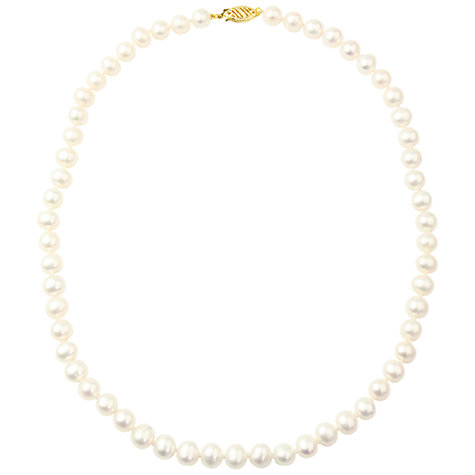 Buy A B Davis 9ct Freshwater Pearl Necklace, White Online at johnlewis.com