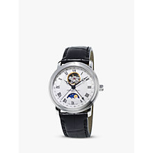 Buy Frédérique Constant FC-335MC4P6 Men's Moon-Phase Leather Strap Watch, Black Online at johnlewis.com