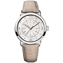 Buy 88 Rue Du Rhone 87WA140017 Women's Double 8 Origin Mother of Pearl Leather Strap Watch, Beige Online at johnlewis.com