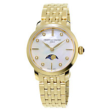 Buy Frédérique Constant FC-206MPWD1S5B Women's Mother Of Pearl Dial Moon-Phase Watch, Gold Online at johnlewis.com