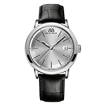 Buy 88 Rue Du Rhone 87WA130015 Men's Double 8 Origin Leather Strap Watch, Black Online at johnlewis.com