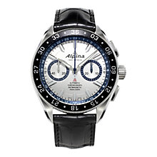 "Buy Alpina AL-860AD5AQ6 Alpiner 4 Chronograph ""Race For Water"" Limited Edition Watch, Silver Online at johnlewis.com"