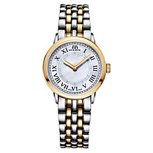 Buy 88 Rue Du Rhone 87WA120060 Women's Double 8 Origin Mother of Pearl Bracelet Strap Watch, Silver/Gold Online at johnlewis.com