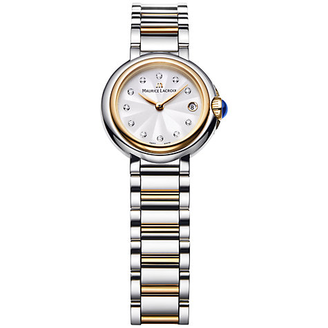 Buy Maurice Lacroix FA1003-PVP13-150 Women's Diamond Stainless Steel Gold Bracelet Watch Online at johnlewis.com