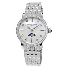 Buy Frédérique Constant FC-206MPWD1SD6B Women's Diamond And Mother Of Pearl Bracelet Watch, Silver Online at johnlewis.com