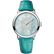 Buy 88 Rue Du Rhone 87WA140015 Women's Double 8 Origin Mother of Pearl Leather Strap Watch, Turquoise Online at johnlewis.com