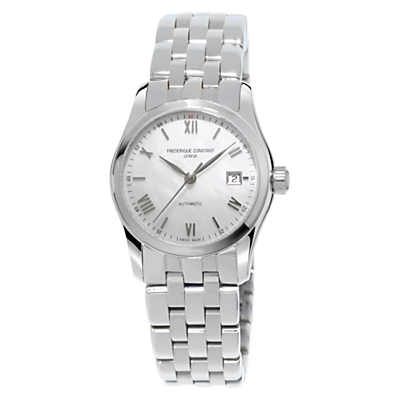 Frédérique Constant FC-303MPWN1B6B Women's Automatic Mother Of Pearl Stainless Steel Bracelet Watch, Silver