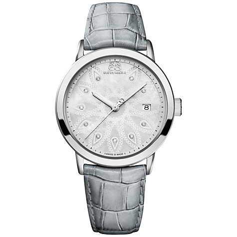 Buy 88 Rue Du Rhone 87WA140018 Women's Double 8 Origin Mother of Pearl Leather Strap Watch, Grey Online at johnlewis.com