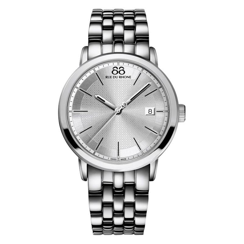 88 Rue Du Rhone 88 Rue Du Rhone 87WA130016 Men's Double 8 Origin Bracelet Strap Watch, Silver