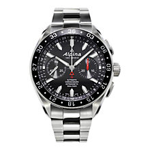 Buy Alpina AL-860B5AQ6B Men's Chronograph-4 Automatic Sports Watch, Black Online at johnlewis.com