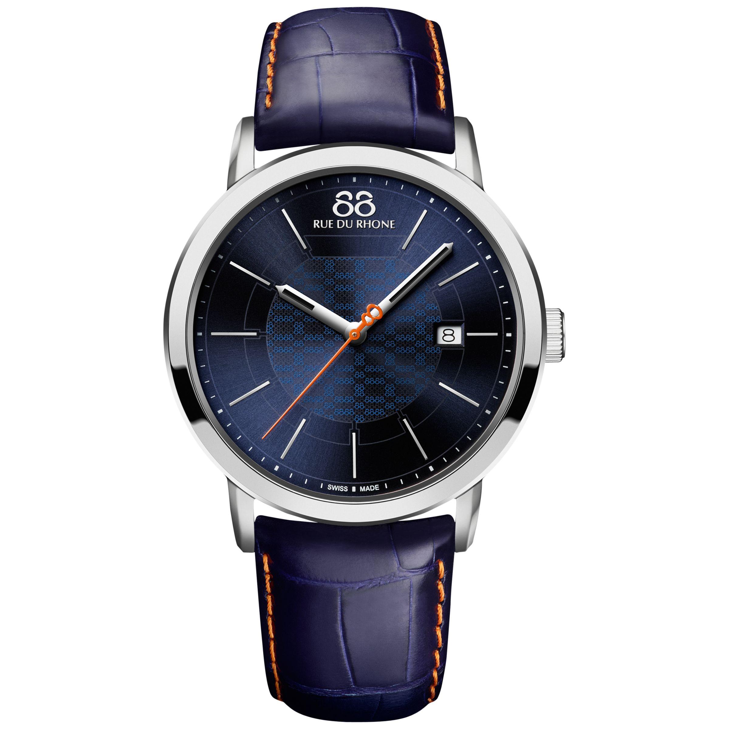 88 Rue Du Rhone 88 Rue Du Rhone Men's Double 8 Origin Leather Strap Watch