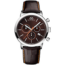 Buy 88 Rue Du Rhone 87WA140029 Men's Double 8 Origin Chronograph Leather Strap Watch, Brown Online at johnlewis.com