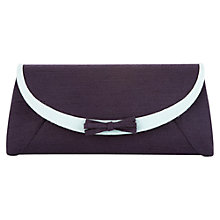 Buy Jacques Vert Bow Trim Clutch Bag, Dark Purple Online at johnlewis.com