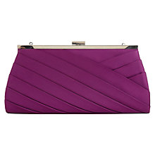 Buy Jacques Vert Pleat Trim Bag, Purple Online at johnlewis.com