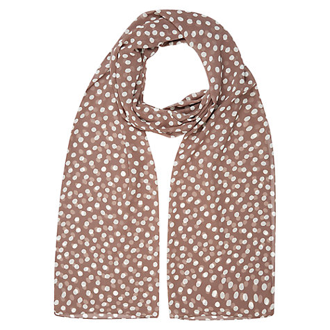 Buy Jacques Vert Spot Chiffon Shawl, Light Brown Online at johnlewis.com