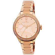 Buy Radey RY4190 Women's Dog Dial Crystal Bezel Watch, Rose Gold Online at johnlewis.com