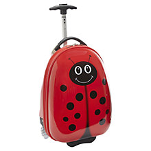 Buy Travel Buddies Lola Ladybug 2-Wheel Children's Suitcase, Red Online at johnlewis.com