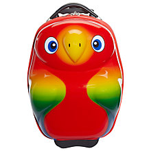 Buy Trendykid Popo Parrot 2-Wheel Suitcase, Red Online at johnlewis.com