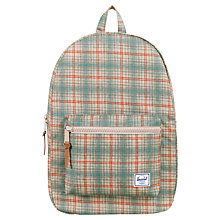 Buy Herschel Settlement Check Backpack, Blue/Pink Online at johnlewis.com