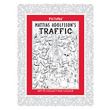 Buy Pictura - Matthias Adolfsson's Traffic, Colouring Book Online at johnlewis.com