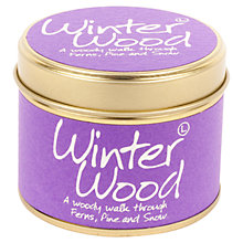 Buy Lily-Flame Mini Candle Tin, Winter Wood Online at johnlewis.com