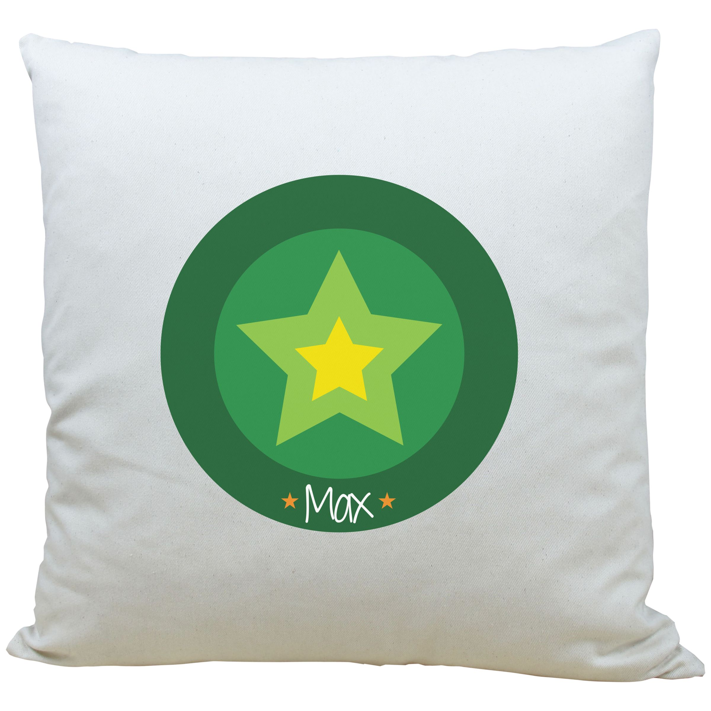 A Piece Of A Piece Of Personalised Star Cushion, Green