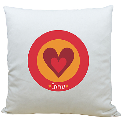 A Piece Of Personalised Heart Cushion, Red