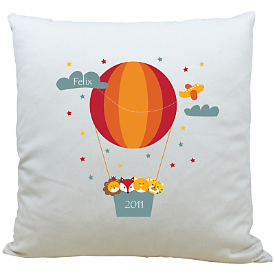 Image of A Piece Of Personalised Animal Air Balloon Cushion