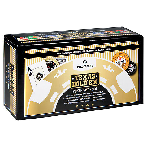 Buy John Lewis Copag Texas Hold'em 300 Chip Poker Set Online at johnlewis.com