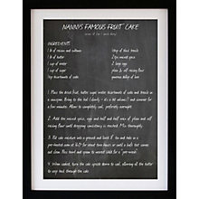 Buy Betsy Benn Personalised Recipe Blackboard Framed Print, 48.7 x 37.7cm Online at johnlewis.com