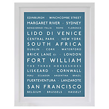 Buy Betsy Benn Personalised Destination Framed Print, Diesel, 48.7 x 37.7cm Online at johnlewis.com