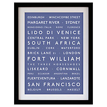 Buy Betsy Benn Personalised Destination Framed Print, Indigo, 48.7 x 37.7cm Online at johnlewis.com