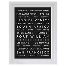 Buy Betsy Benn Personalised Destination Framed Print, Black, 48.7 x 37.7cm Online at johnlewis.com