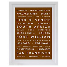 Buy Betsy Benn Personalised Destination Framed Print, Tan, 48.7 x 37.7cm Online at johnlewis.com
