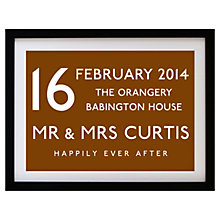 Buy Betsy Benn Wedding Destination Framed Print, Tan, 37.7 x 48.7cm Online at johnlewis.com