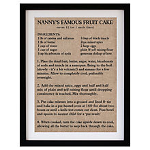 Buy Betsy Benn Personalised Recipe Hessian Framed Print, 48.7 x 37.7cm Online at johnlewis.com